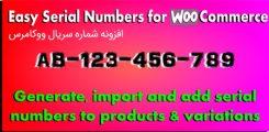 افزونه شماره سریال محصولات ووکامرس Easy Serial Numbers